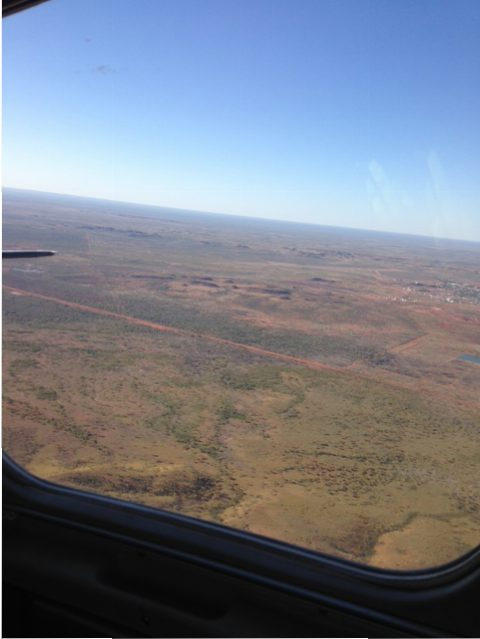 View from 10 seater chartered plane from Tennant Creek back to Alice Springs