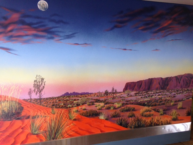Mural - airport at Uluru